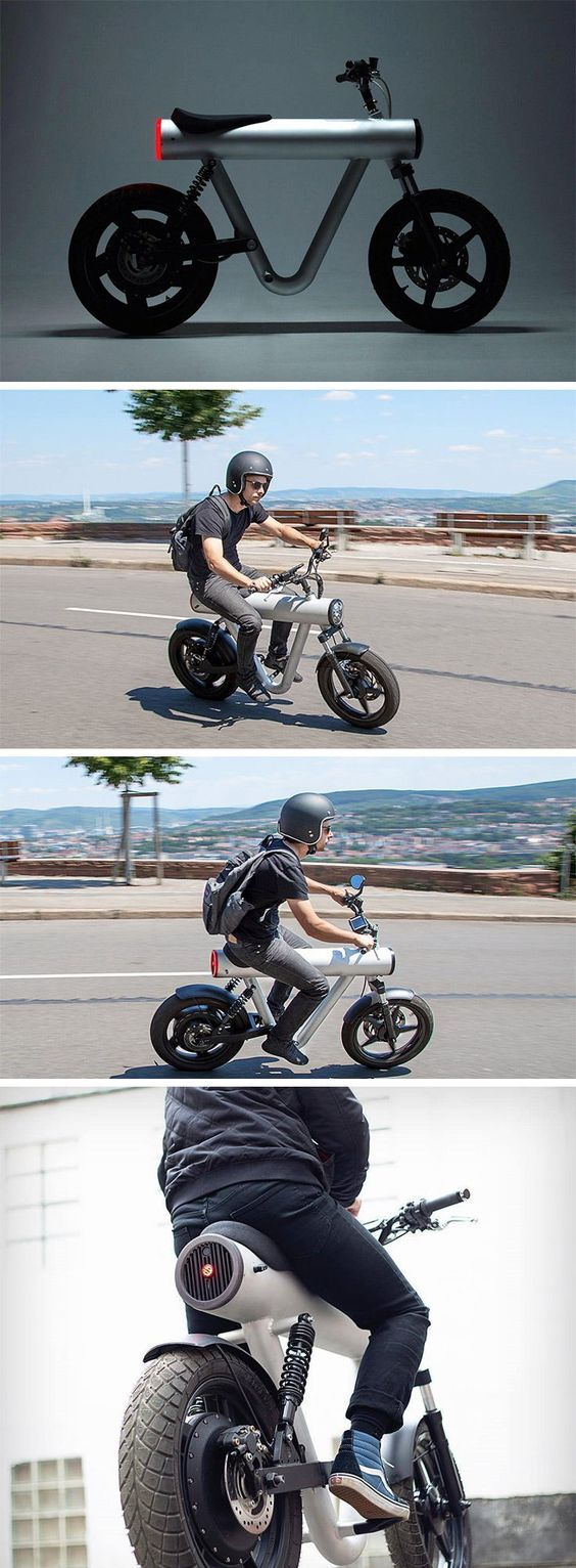 Designed by Manuel Messmer and engineered by SOL Motors, the Pocket Rocket is clean, compact, and well thought through. The thick tubular column on th…