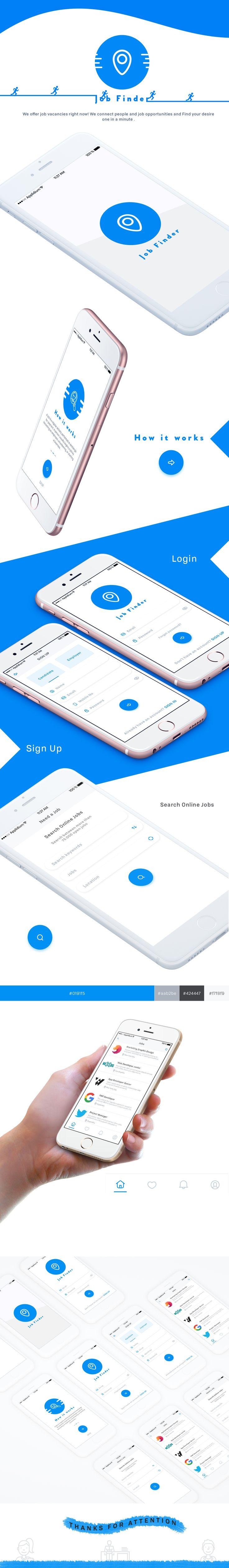 Job Finder App Concept