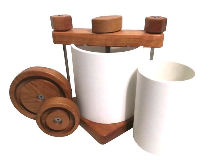 The Ultimate Cheese Press in Cherry Wood   from Homesteader's Supply!