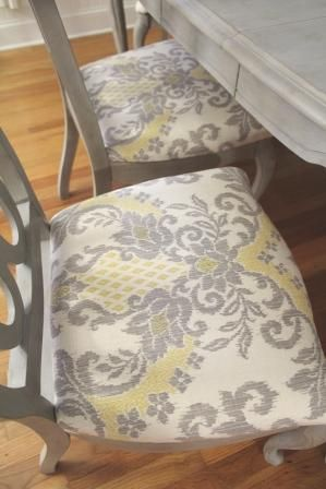 Annie Sloan Dining Table Reveal | Drab To Fab Design. Upholstered Dining  Room ChairsReupholster ...