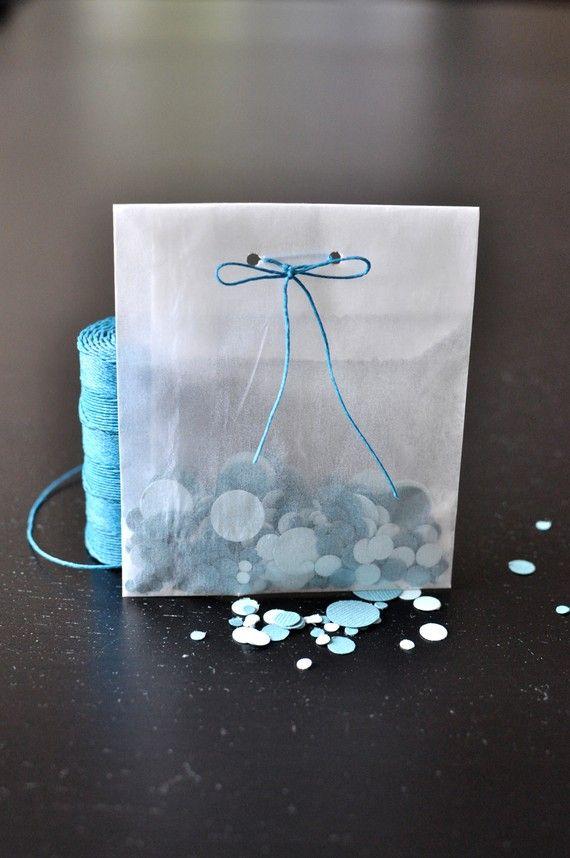 Small Glassine Bags for Wedding Confetti.