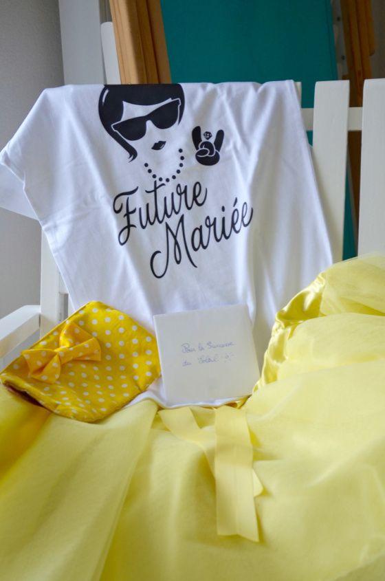 bachelorette party, enterrement de vie de jeune fille, mariage jaune, idée tenue, princesse du soleil, future mariée, madamedaniel.com