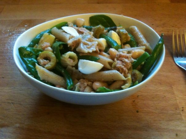 Recipe: Two Bean, Tuna, Spinach and Bocconcini Pasta Salad With Honey and Lemon Dressing
