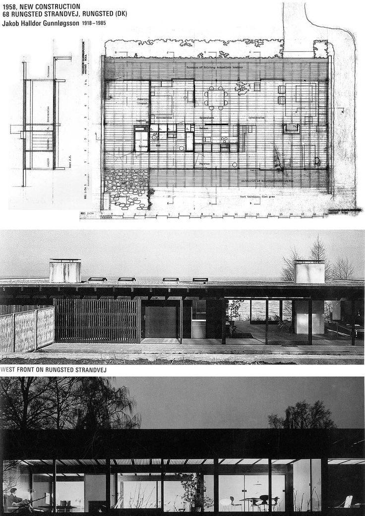 Gunnlogsson house, Rungsted (DK) 1958. Jakob Halldor Gunnlogsson 1918-1985