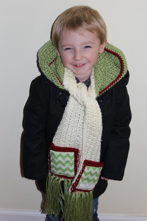 CHILD SIZE Crochet Chevron Scoodie hooded scarf by MJsChicBoutique, $55.00
