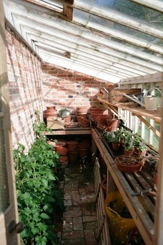 a greenhouse attached to the house!