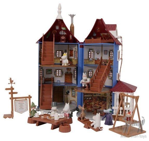 DOMEK MUMINKÓW – zestaw z figurkami w Zabawy z literaturą Muminki zabawki i gadżety Pikinini-More than toys, zabawki ekologiczne, gotowanie z dziećmi, Pippi, Muminki, zabawki, ogrodnictwo, książki