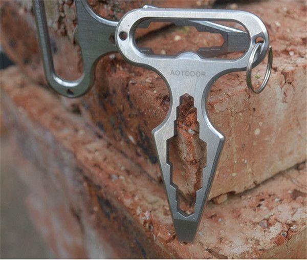 100 PCS Self defense tool multifunctional tool angle wrench / screwdriver / opener /9D042 survival kit camping equipment #Affiliate