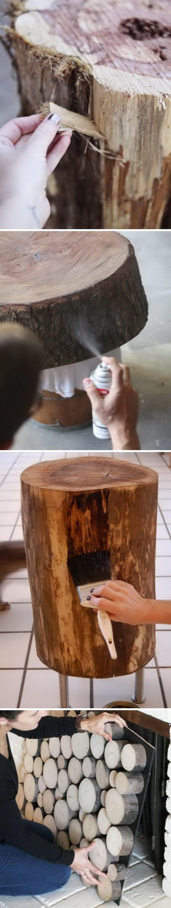 Creative Tree Stump DIY Ideas