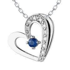 Safir smykke med diamanter