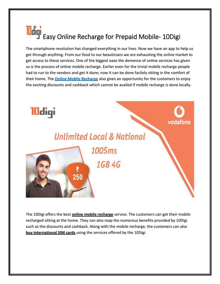 he #Online #Mobile #Recharge also gives an opportunity for the customers to enjoy the exciting discounts and cashback which cannot be availed if mobile recharge is done locally. Visit Our Website: https://10digi.com/