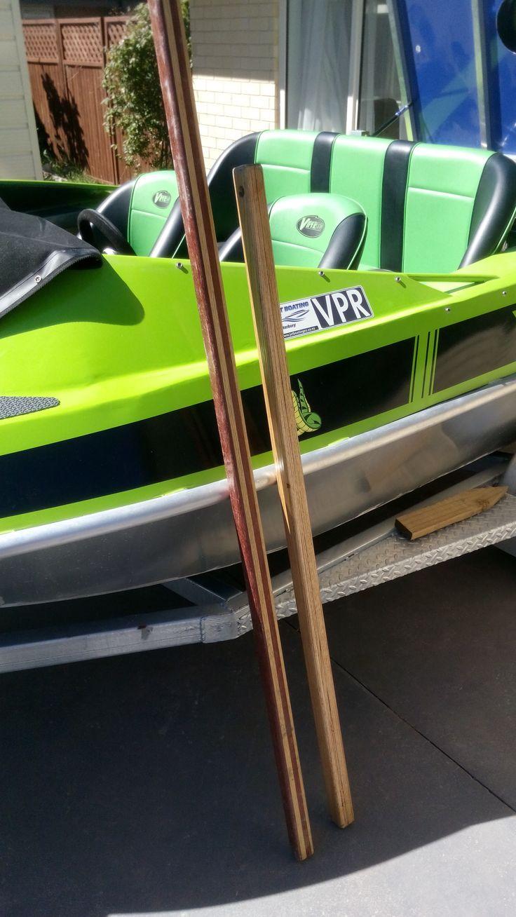 Push Poles for Jetboat.   Laminated  Oak and Jarrah.   Really strong, I hope