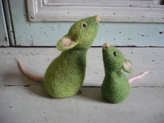 Green mice by swig - via Flickr