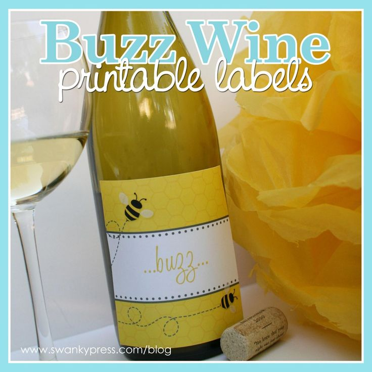 Printable Wine Bottle Labels: Free Bee Themed Printable Wine Label