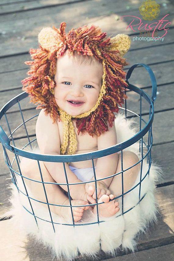 Chapeau de lion, Lion Bonnet, Bonnet Lion, Costume de Lion, crinière de Lion, cadeau de naissance, Photo Prop, Costume d