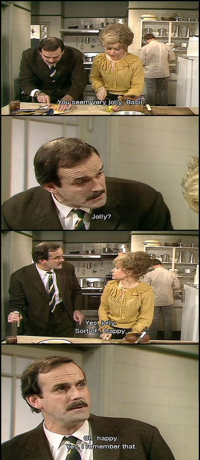 """But it was long time ago."" Lord above, did I ever love 'Fawlty Towers.'"