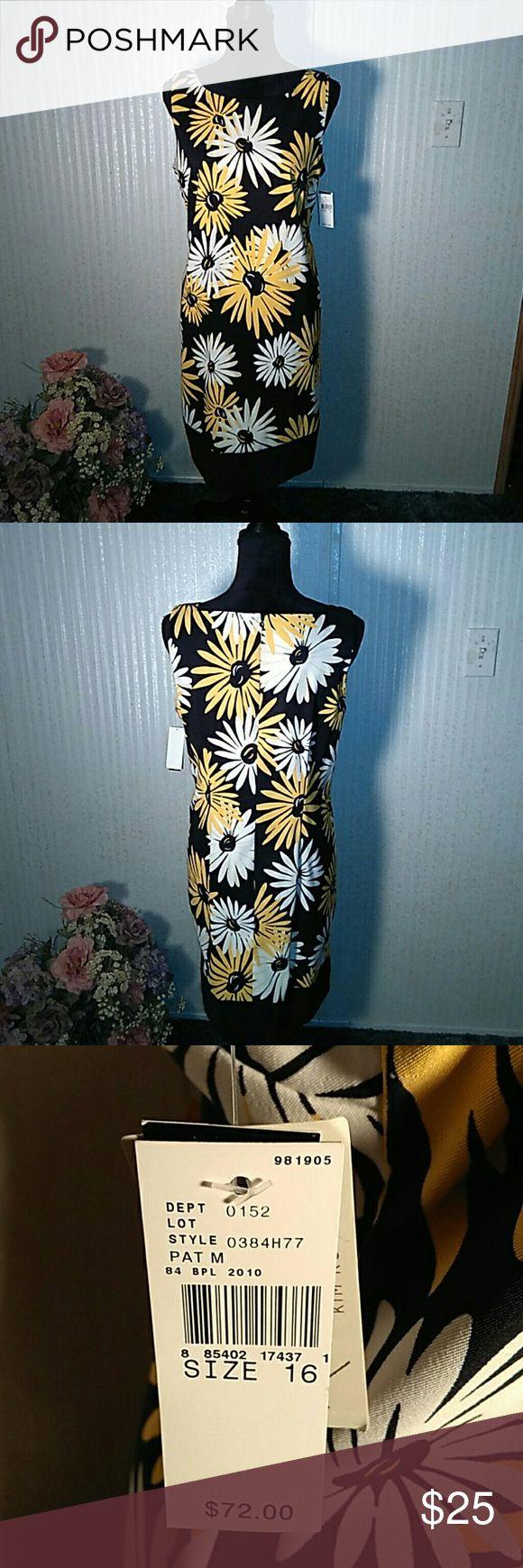 Beautiful Kim Rogers sunflower dress NWT Beautiful Kim Rogers sunflower dress NWT Kim Rogers Dresses Midi