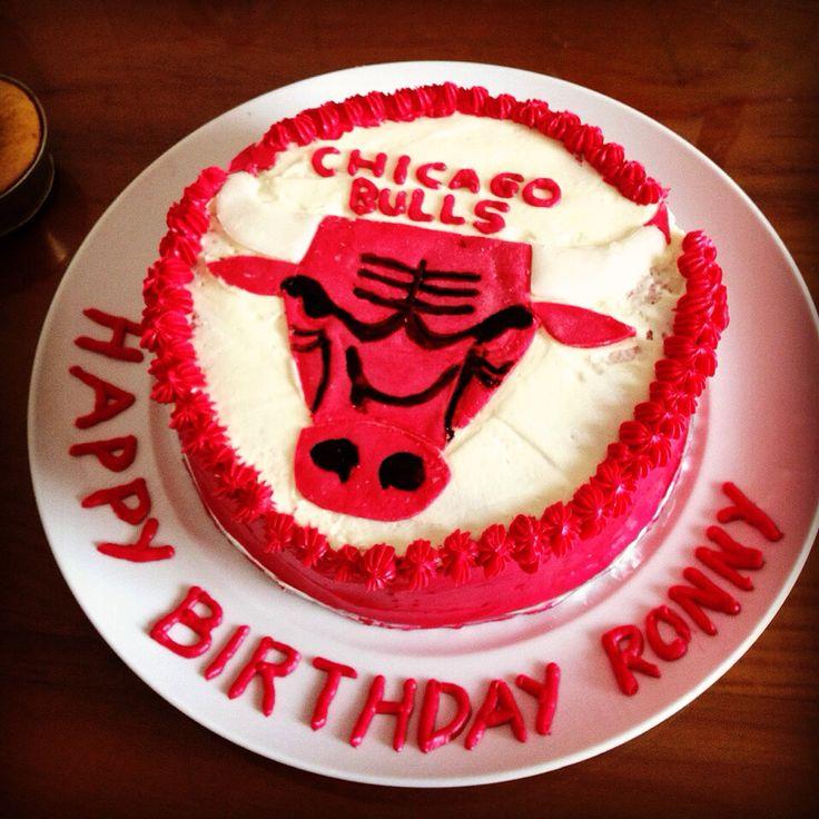 'Chicago bulls' theme birthday cake, for my hubby