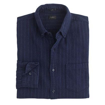 J.Crew - Slim cotton-linen shirt in pinstripe