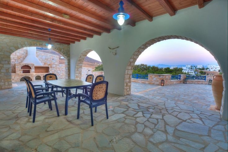 Holiday villa rental in Paros. Private pool villa, very close to sea in Paros. The villa has 3 bedrooms where can sleep 3 couples and an...