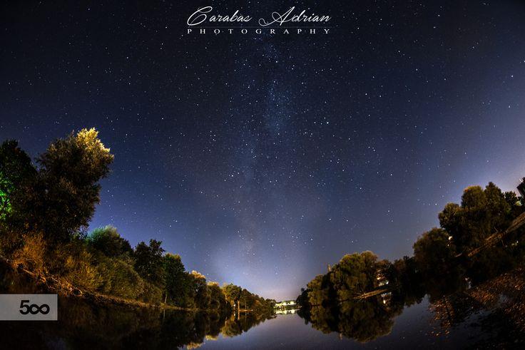 night sky city by Ady Carabas on 500px