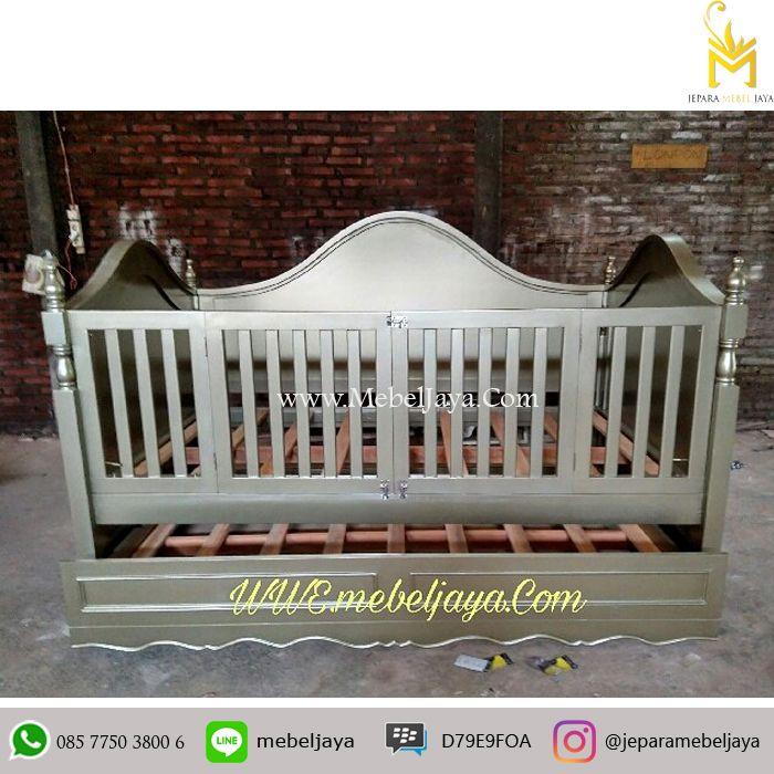 Tempat tidur bayi desain OVAL dengan laci besar bagian bawah untuk menyimpan keperluan baby Anda - Tempat Tidur Bayi Laci Sorong Terbaru