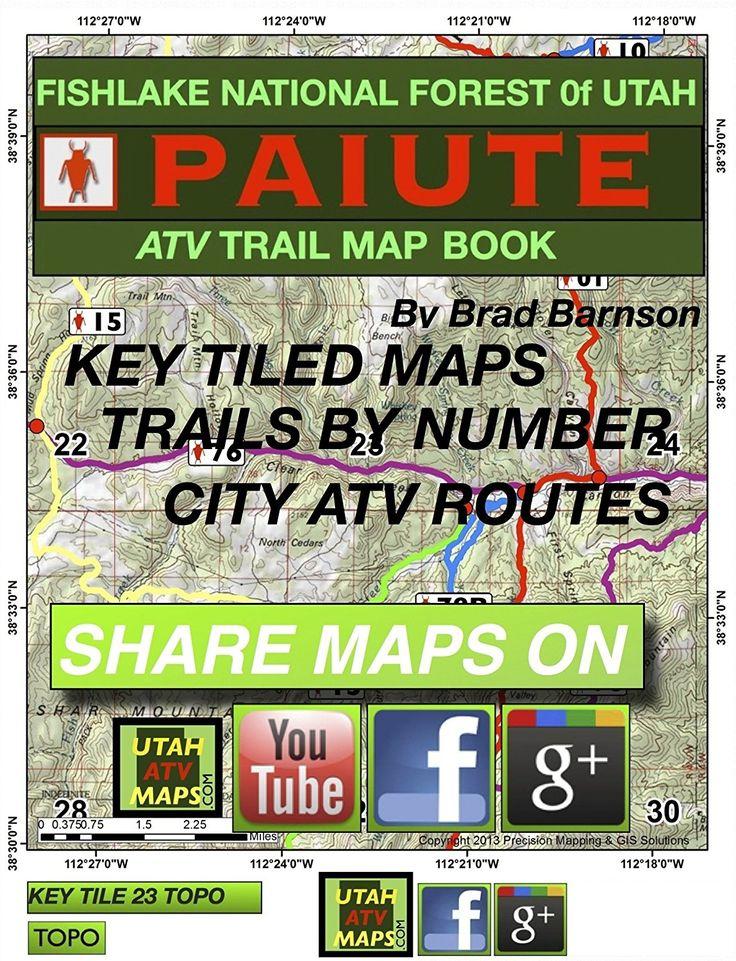Paiute Atv Trail Map Book Trail Maps Books Atv