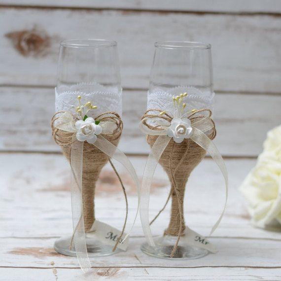 Ricevimento di nozze occhiali tostatura flauti di HappyWeddingArt
