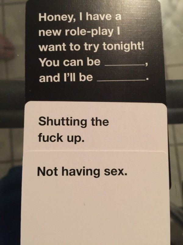 Instant Game Winners from Cards Against Humanity