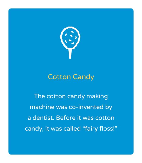 Fun Fact Friday! Cotton Candy was invented by a dentist! Dentistry 4 Kids: Dr. Paul Bonner, DDS | #WichitaFalls | #TX | www.childdswf.com
