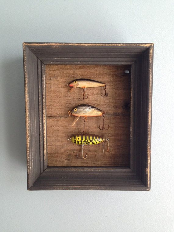 Must Make some of these. Everybody please save me any antique fishing lures that you find. (Shadowbox by Blessitdesigns on Etsy)