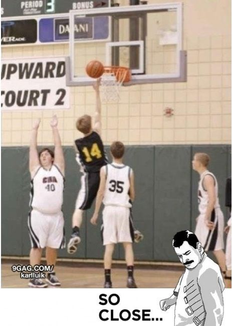 So close...: Basketball, Giggle, Epic Block, Funny Stuff, Humor, Funnies, Kid