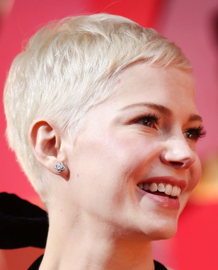 http://www.revelist.com/beauty-news-/oscars-2017-beauty/6988/Michelle Williams, as always, let her white-blonde crop do all the talking./20/#/20