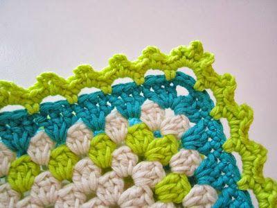 Free chart by Color 'n Cream for blanket edging ♥❥Teresa Restegui http://www.pinterest.com/teretegui/❥♥