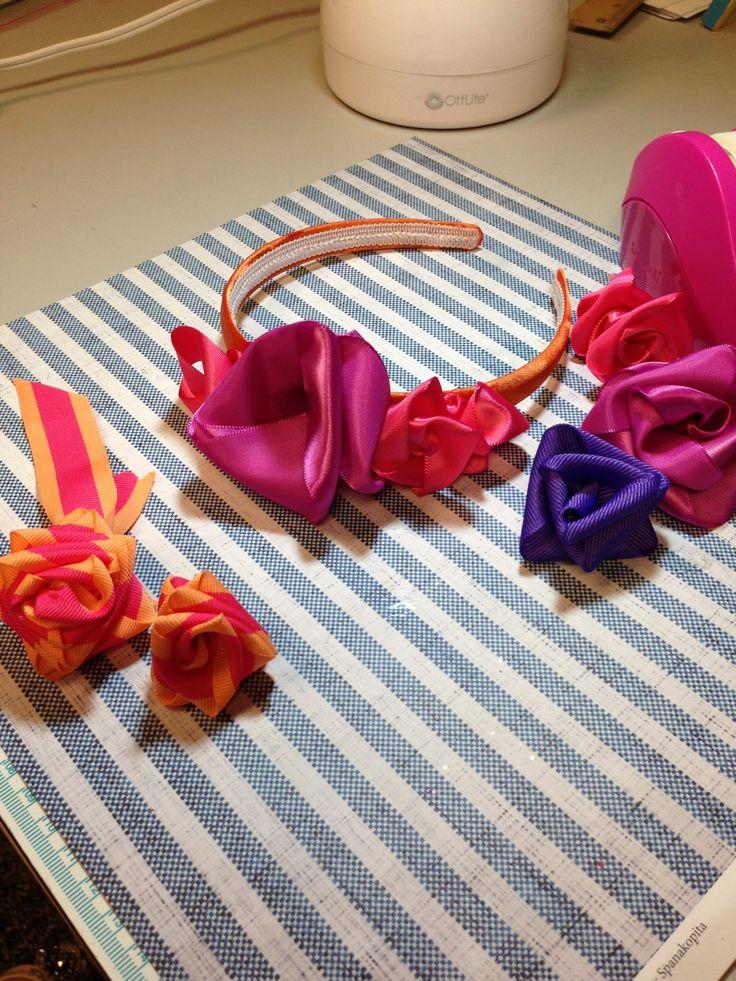 How to Make Ribbon Roses :) #diy