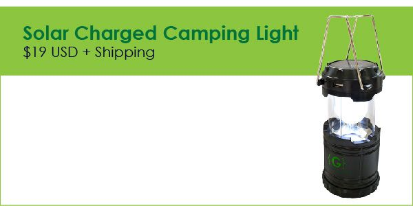 We have the brightest idea - solar camping lantern!