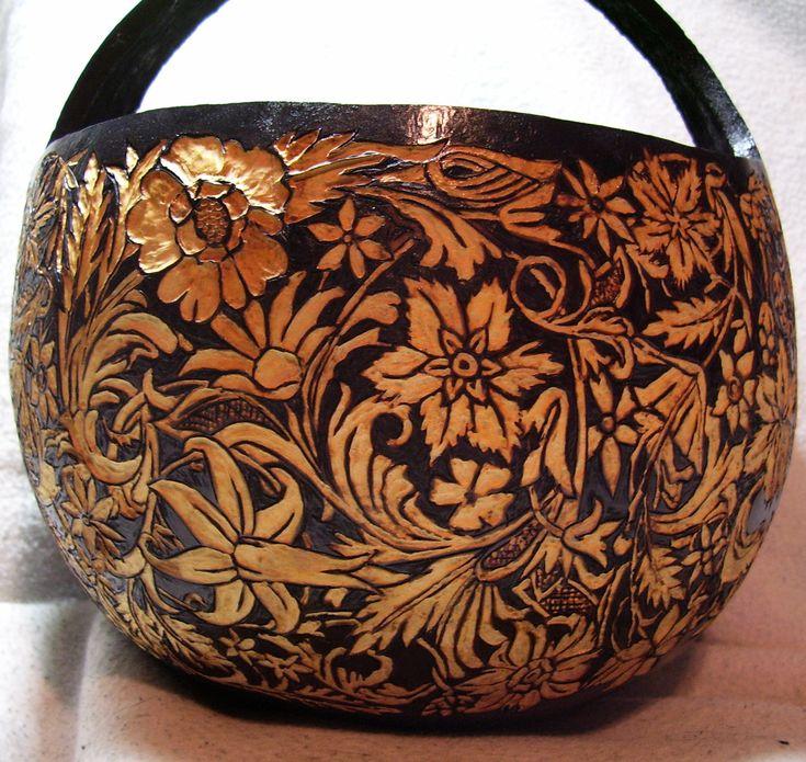 314 best gourd art images on pinterest gourd crafts for Gourd carving patterns