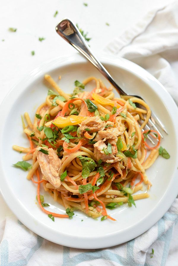 Peanut Noodles With Chicken foodiecrush.com 13. I wonder if I could sub carrot noodles????