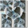 Μπομπονιέρα Γάμου Λευκό Πουγκί Γάζας Αστερίας - Πουγκιά