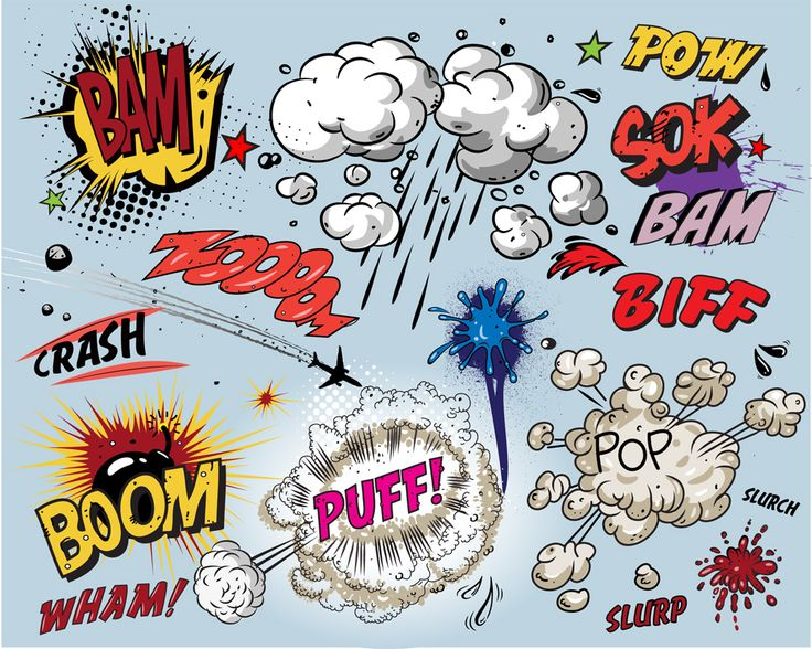 As a class, students view several comic strips and are guided in identifying examples of onomatopoeia. Description from readwritethink.org. I searched for this on bing.com/images