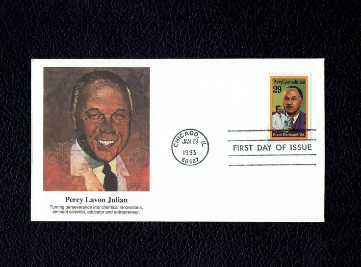 US 2746 Black Heritage Percy Lavon Julian Jan 29 1993 Chicago ILL First Day Cover lot #F2746-1 by VicsStamps on Etsy