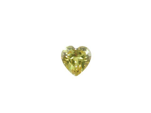 5mm Heart Golden Yellow Cubic Zirconia *butterfly Memories* Charm