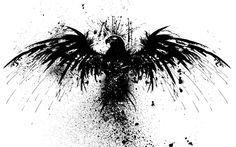 Splatter paint eagle; considering stars and stripes instead of black