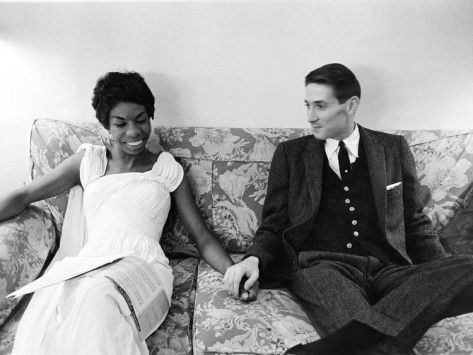 Nina Simone and Don Ross - 1959 Photographic Print