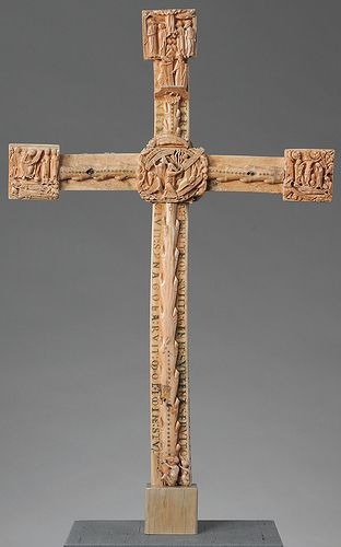 NYC MET - Bury St. Edmunds Cross Side A 1a walrus ivory [1130-70]