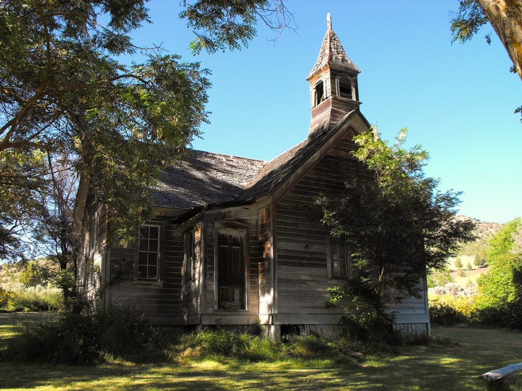 """Old Church (1890's) in """"Ghost Town"""" of Richmond, Central"""