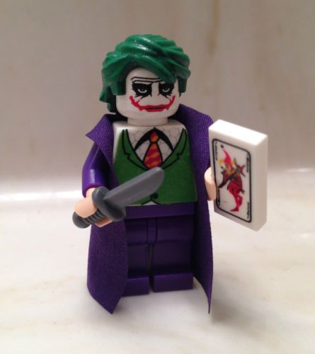 Lego Batman Joker Dark Knight Custom Minifigure w Card Knife Minifig Rises Bane | eBay