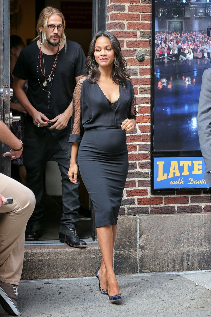 Faces of Black Fashion: This Week in Black Celebrity Style #pregnancy #maternity #ZoeSaldana