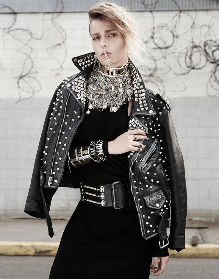 TOM BINNS CUT COUTURE NECKLACE @VMagazine.com Punk Story — at Tom Binns Design. #Leather #Fashion
