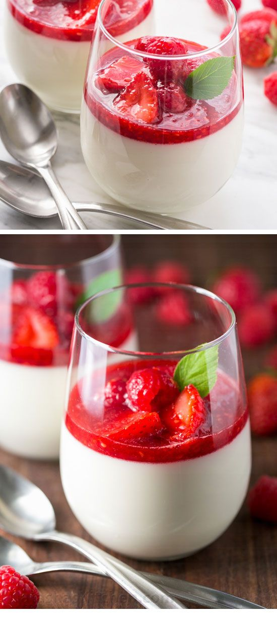 Panna Cotta with Berry Sauce | Romantic Desserts for Two Date Nights